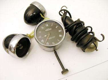 Lot 333-Jaeger Time Clock & Other Automobilia