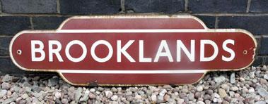 Lot 403-Original 'Brooklands' Railway Totem