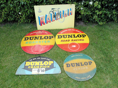 Lot 404-Raleigh Advertising Sign & Dunlop Tyre Displays