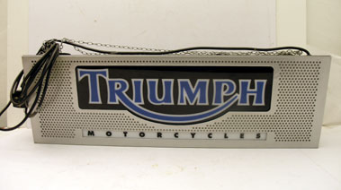 Lot 406-Triumph Motorcycles Showroom Lightbox