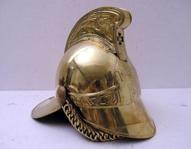 Lot 408-Brass Fireman's Helmet
