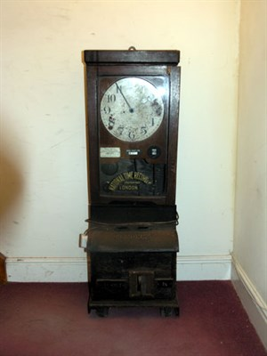 Lot 409-National Time Recorder 'Clocking In' Machine