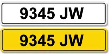 Lot 4-Registration Number 9345 JW