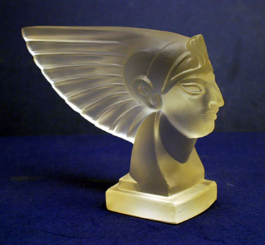 Lot 305-'Pharaoh' Glass Accessory Mascot