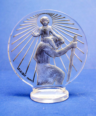 Lot 309-'St Christopher' Accessory Mascot by R. Lalique