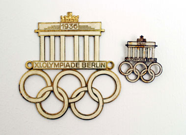 Lot 301-Berlin 1936 Olympic Games Car & Lapel Badges