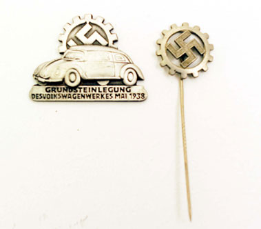 Lot 207-German Factory Pin Badges