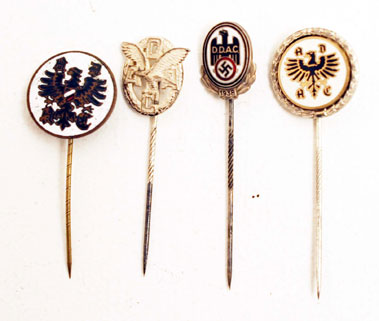 Lot 208-Four German Motoring Stick Pins