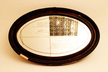 Lot 219-Vauxhall Advertising Mirror