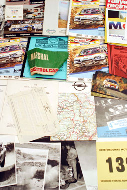 Lot 115-Assorted Rallying Paperwork