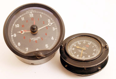 Lot 318-Vintage Aircraft/Motorcar Clocks