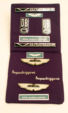 Lot 323-Original Aston Martin DB6 Badge Set