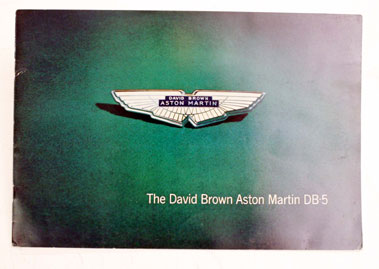 Lot 100-Aston Martin DB5 Sales Brochure