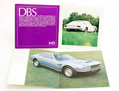 Lot 110-Aston Martin DBS & DBS V8 Sales Brochures