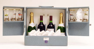 Lot 332-Six Person Race Goers' Champagne Set by Henlys