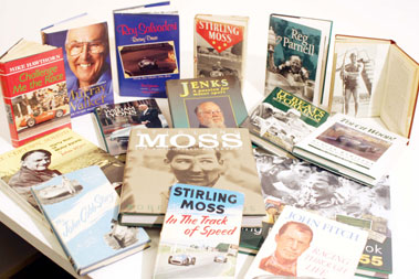 Lot 130-Quantity of Motoring Biographies & Autobiographies