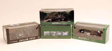 Lot 221-Four 'Autoart' Jaguar 1:18 Scale Models