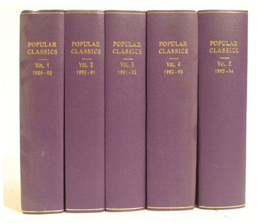 Lot 127-Bound 'Popular Classics' Magazine
