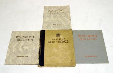 Lot 100-Rolls-Royce 20/25 H.P Sales Brochure & Early Bulletins
