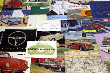 Lot 105-Quantity of Motorcar Sales Brochures