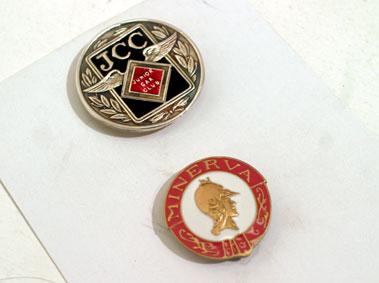 Lot 217-J.C.C & Minerva Pin Badges