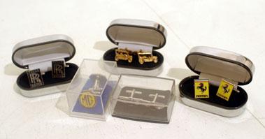 Lot 219-Five Pairs of Motoring Cufflinks