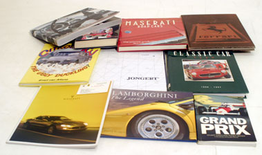 Lot 117-'Maserati Road Cars' by Crump & Nine Other Titles