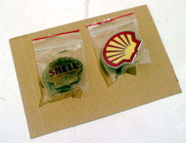 Lot 213-Enamel Shell Badges