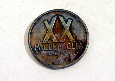 Lot 209-1953 Mille Miglia Finisher's Medal