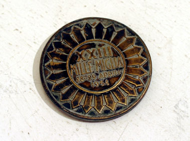 Lot 216-1956 Mille Miglia Finisher's Medal