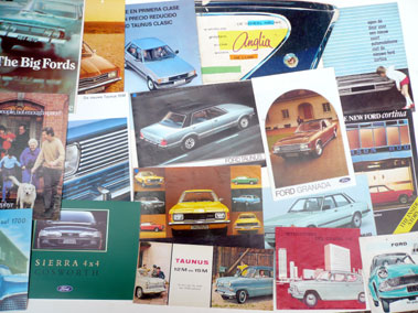 Lot 107-Quantity of Ford Sales Brochures