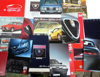 Lot 111-Quantity of Alfa Romeo Sales Brochures