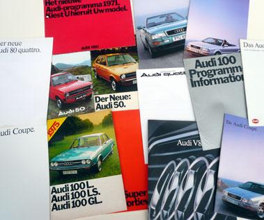 Lot 112-Quantity of Audi Sales Brochures
