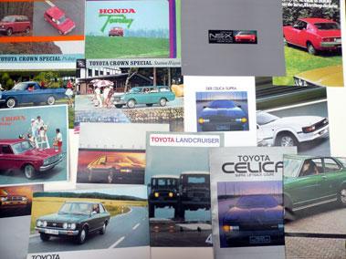 Lot 121-Quantity of Toyota & Honda Sales Brochures