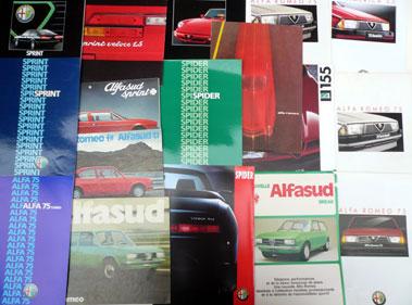 Lot 123-Quantity of Alfa Romeo Sales Brochures