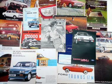 Lot 124-Quantity of Ford Sales Brochures