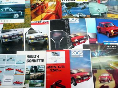 Lot 129-Quantity of Renault & Peugeot Sales Brochures