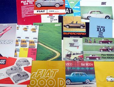 Lot 132-Quantity of Fiat & Autobianchi Sales Brochures