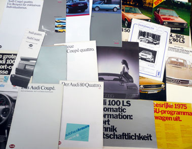 Lot 134-Quantity of Audi Sales Brochures