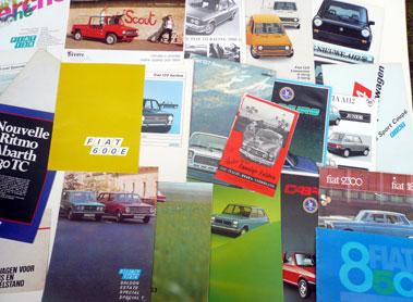 Lot 135-Quantity of Fiat & Autobianchi Sales Brochures