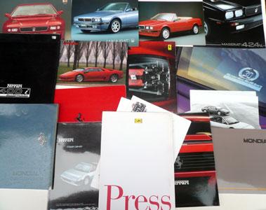 Lot 146-Quantity of Ferrari, Maserati & Lamborghini Sales Brochures