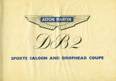 Lot 118-Aston Martin DB2 Sales Brochure