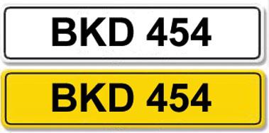 Lot 1-Registration Number BKD 454