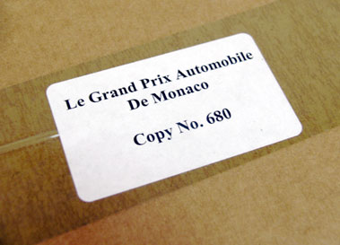 Lot 100-History of the Monaco GP by Yves Naquin