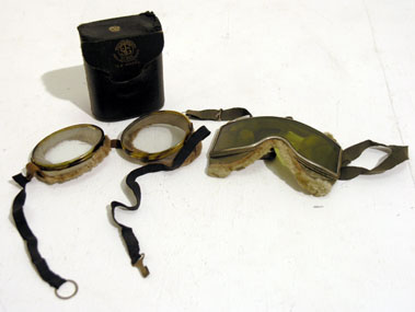 Lot 214-Two Pairs of Early Goggles