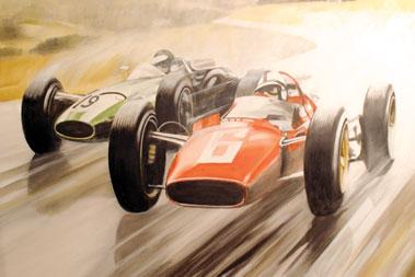 Lot 506-Ferrari/Cooper Original Artwork by B.D. Taylor