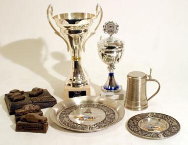 Lot 206-Quantity of Motor Racing Trophies