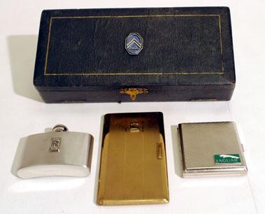 Lot 213-Citroen Badged Vanity Set & Other Items