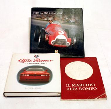 Lot 107-Three Alfa Romeo Books