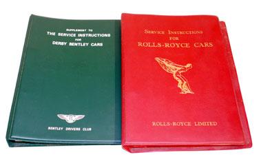 Lot 110-Rolls-Royce/Derby Bentley Service Instructions